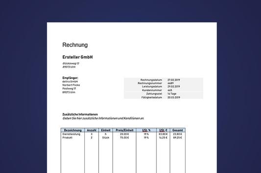Rechnungsvorlage Vorschau auf Mahnung Vorlage
